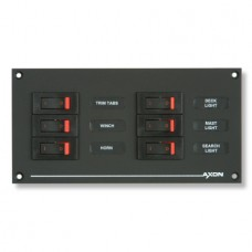 6 Way Auxiliary DC M Series Breaker Panel