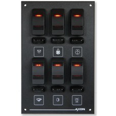 6 Way (2x3) Illuminated Switch / Fuse Panel