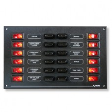 12 Way Illuminated Visi-Switch / Fuse Panel