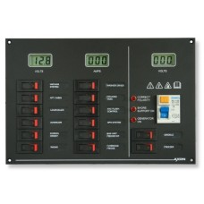 14 Way AC and DC panel with meters and RCD