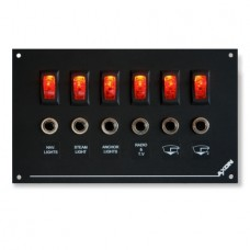 6 Way Illuminated Mini-Switch / Breaker Panel